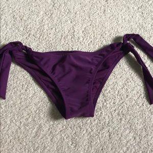 Purple bikini bottoms